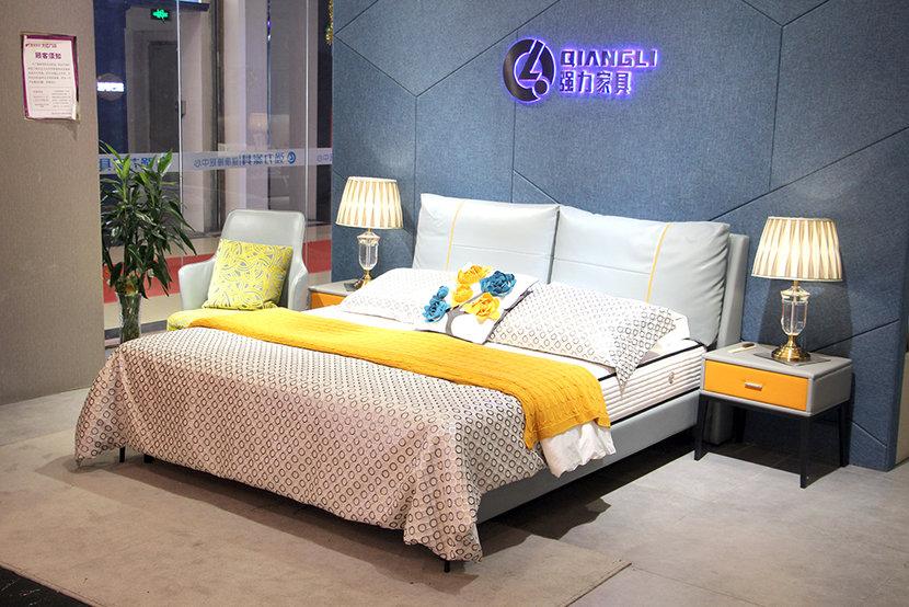 强力家具双人床+床垫 套餐特价3999元
