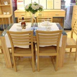 集美家居水屯店 强力 N03-1200 餐桌+P07 4把餐椅(进口板)