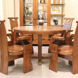 一品木阁 Y705-1200 圆桌 Y102-625 餐椅