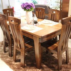 假日森林 WH-203餐桌+WH-008餐椅*6