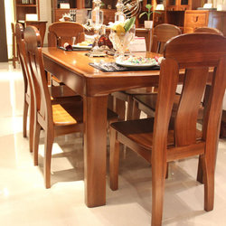 雄丰家具 D0619-1 餐桌+餐椅