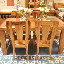 赖氏家具 WJ-H01餐桌+WJ-I01餐椅*6