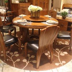 久典家具 K-101 圆桌+餐椅*6