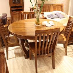 超一纯家具 8135大圆桌+858餐椅*4