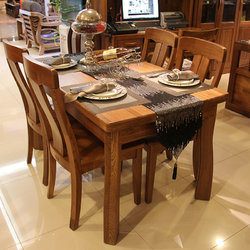 国盛 CT67餐桌+CY67-A餐椅*4