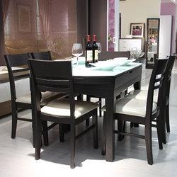 绿芝岛 E298B圆餐桌+Y0605餐椅*6