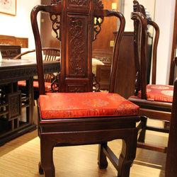 江南神龙  雕刻餐椅