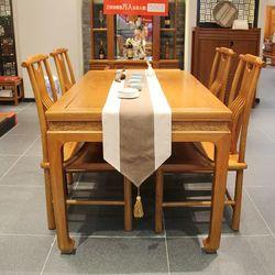 一品木阁 M617-1390餐桌+M619餐椅*4