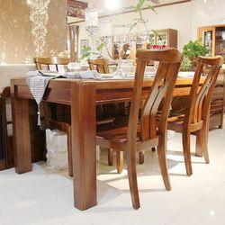 圣诺·实木 806 餐桌+餐椅*4