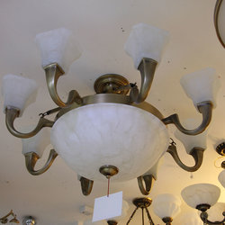 长亮照明 格型1150 铜吊灯