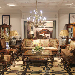 华美法罗 H048 客厅七件套美式沙发