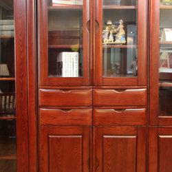 晓月家居  两门书柜(带屉)