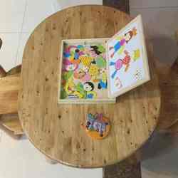 促销 宏达实木家具 儿童桌椅