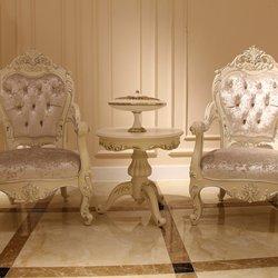 鸿亚博伦旗下品牌  宫廷名匠 582A款休闲椅(白加银)