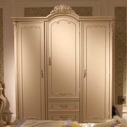 鸿亚博伦旗下品牌  宫廷名匠 582款三门衣柜(白加银)