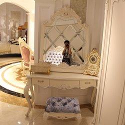 鸿亚博伦旗下品牌  宫廷名匠 582B款梳妆台(白加银)