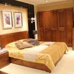 紫榆艺品  地暖高箱双人床