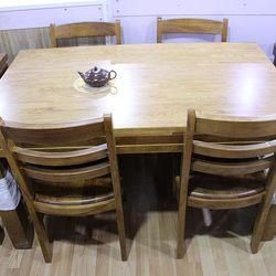 藤艺  实木餐桌