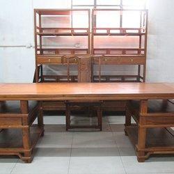 正明红木  明式字台 书柜