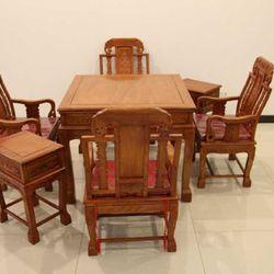 九韵红木 花梨木 麻将桌