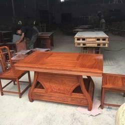九韵红木花梨木茶桌