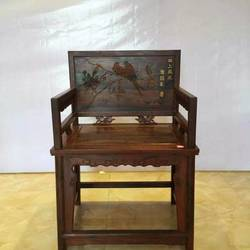 九韵红木 老挝酸枝玫(交趾黄檀)玫瑰椅