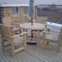 洪林阁户外家具+008+一桌四椅