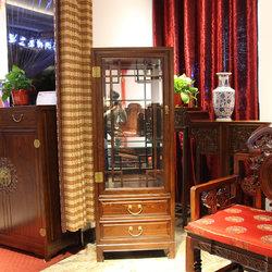 万寿轩古典家具 玻璃酒柜
