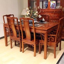 友联红木 博古龙 餐桌