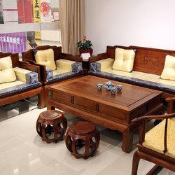 新荣红木 沙发六件套