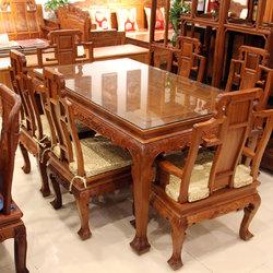 新荣红木 一桌六椅