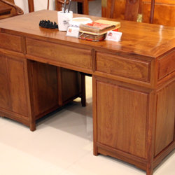 新荣红木 书桌