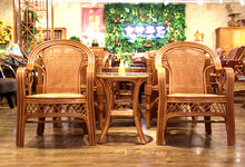 合轩藤艺印尼藤休闲椅三件套 特价2280元/套