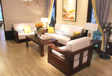 华日家居胡桃木沙发四件套特价29965元