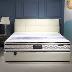 强力家具 双人床+床垫 套餐