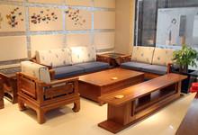 一品木阁柞木沙发三件套 样品28800元/套