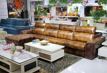 集美沙发:牛皮转角沙发 促销17200元