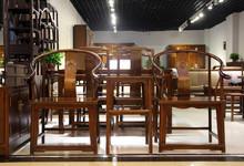聚兴阁榆木中式圈椅三件套 促销3800元