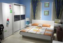绿芝岛板式家具卧室四件套 特价6760元