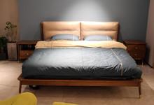 欧瑞迪北欧风格进口白橡双人床 特价2980元