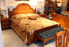 米勒小镇田园风格双人床 特价6600元