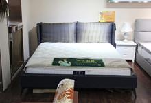 欢颜布艺双人床+弹簧床垫 套餐 特价4800元