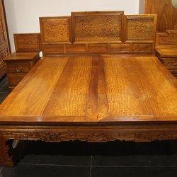 翰尊红木 缅甸花梨 现代床A(3件套)