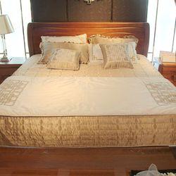 雄丰家具 D0619-8 双人床+床垫1.8