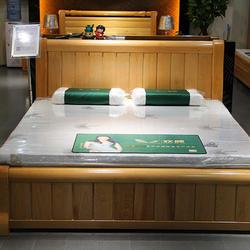 欢颜天然山棕床垫+榉木床